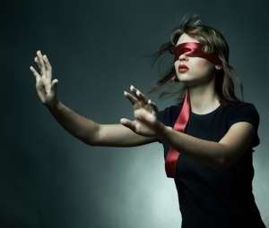 Blind Folded Woman