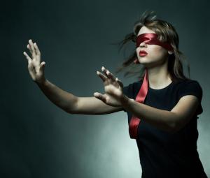 Blind Folded Woman